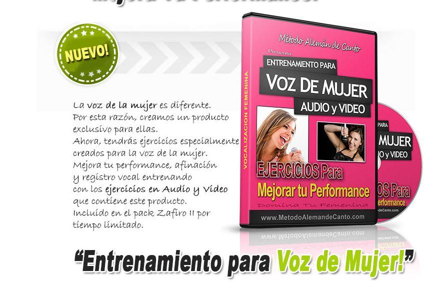entrenamiento vocal para mujeres